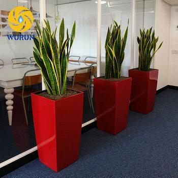 Office Home Indoor Decor Iron Flower Planter Steel Square ...