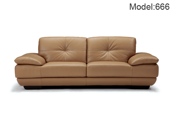 Top Grain Italian Leather Sofas Modern Style 3 2 1