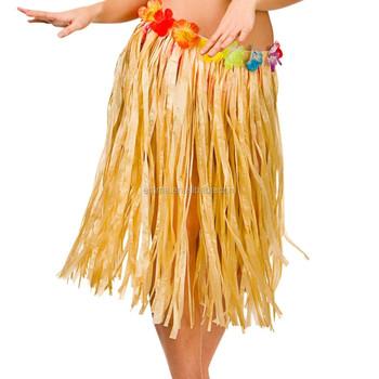 2015 Newest Fancy Dress Hawaiian Hula Sexy Long Skirts Yellow Skirt BWG8030