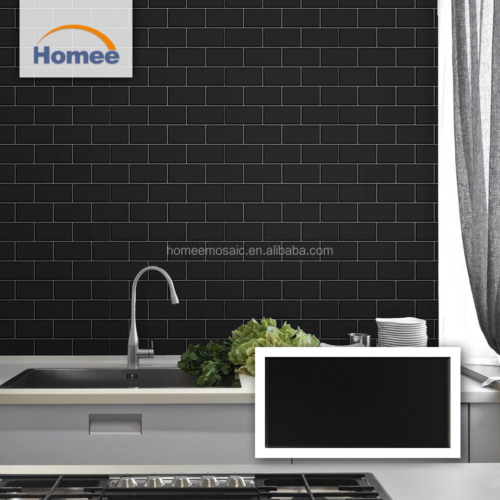 - Best Selling 75x150 Matte Black Ceramic Tile Kitchen Backsplash