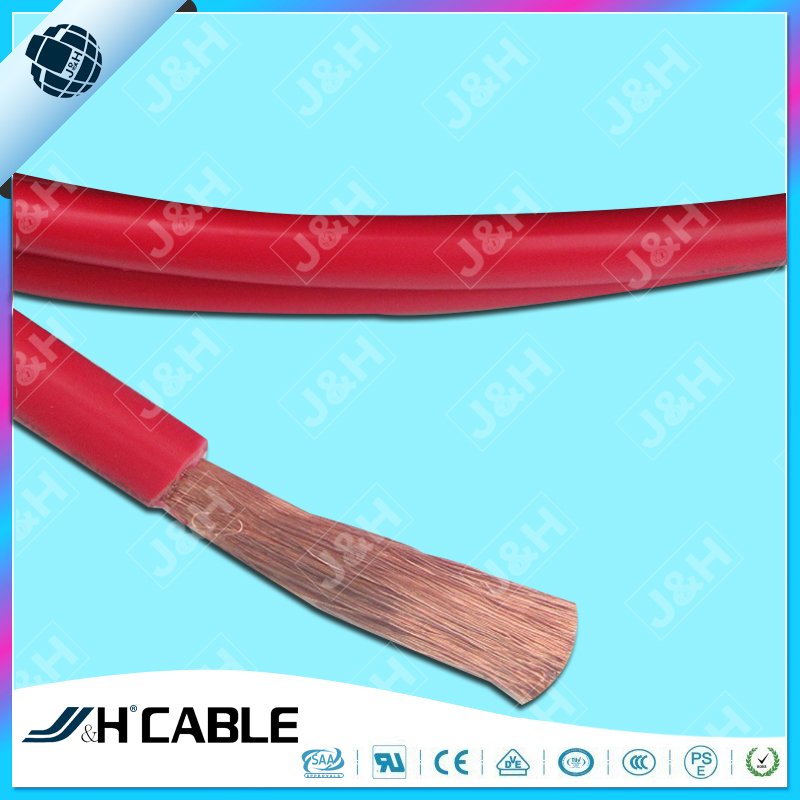 Red PVC insulated 8awg auto battery cable with factory price