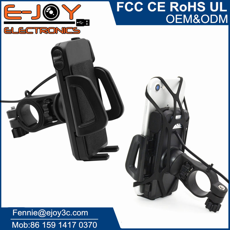 Waterproof IP65 usb charger for motorcycle with switch + phone holder