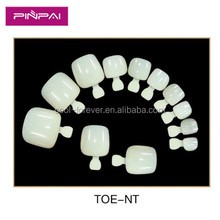 2016 natural round toe nail tips full cover Acrylic UV gel false toe tips