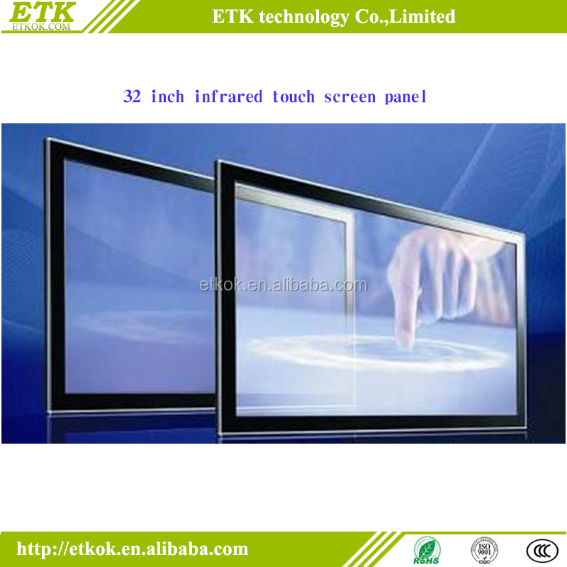 55 inch infrared multi touch screen panel with USB 2.0 interface for Linux