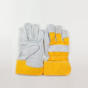 Cowhide split leather gloves