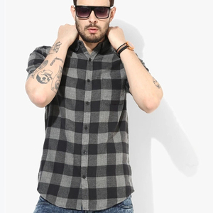 wholesale mens plaid short sleeve shirts