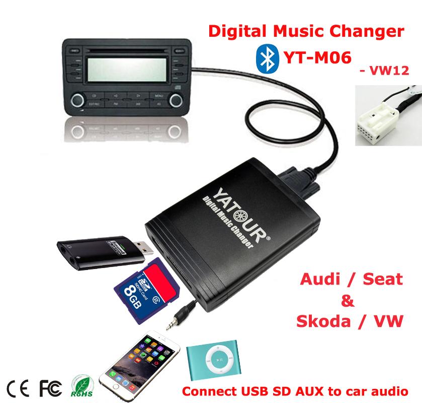 yatour digital music changer aux sd usb mp3 adaptateur pour vw radio delta mfd2 prime r100 r110. Black Bedroom Furniture Sets. Home Design Ideas