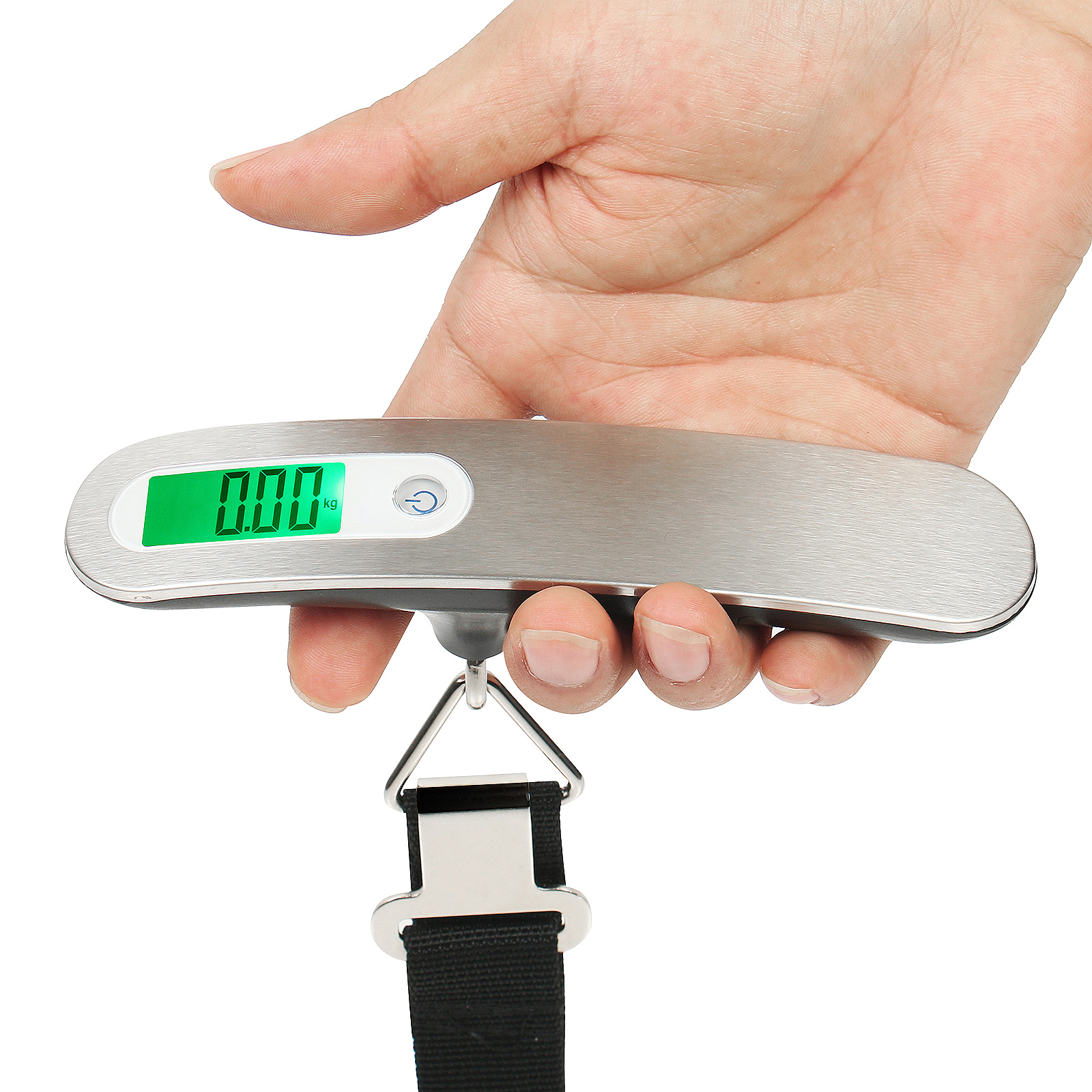 Portable stainless steel waterproof digital luggage scale