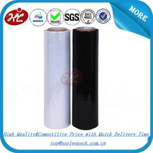 23 micron Schwarz LLDPE Stretch Film Hersteller China/Lineares Polyethylen Niedriger Dichte/<span class=keywords><strong>Stretchfolie</strong></span>