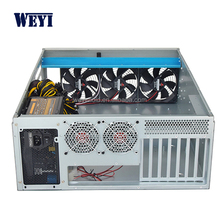2018 New case 19 inch 4U 6GPU mining rig eth rack ATX miner server case nas chassis manufacturer good quality selling