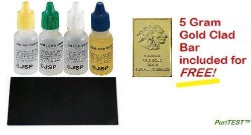 Gold Testing Solutions Kit 10k 14k 18k 22k Scratch Stone Set