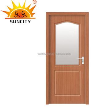 Madeira Emoldurado Vidro Portas Principais De Kerala Casa Design