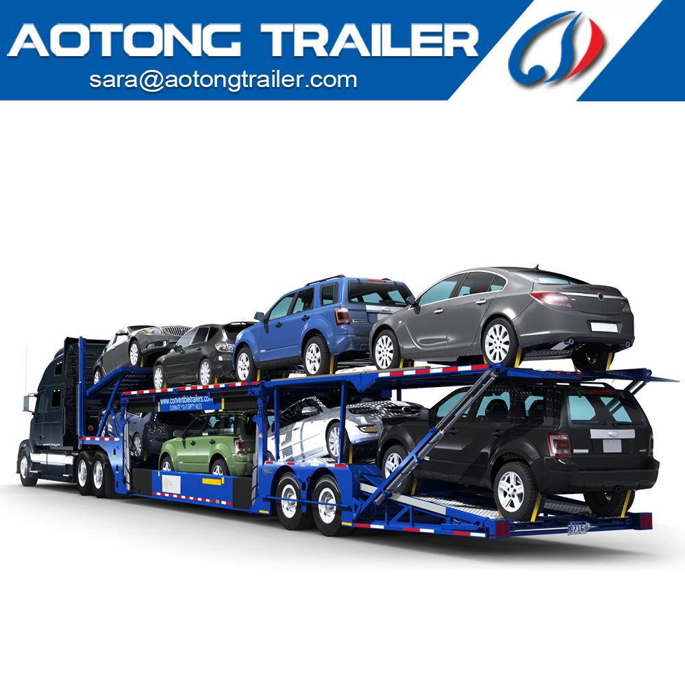 Double Floor Auto Car Hauler Trailer,Car Transporter Trailer,Car ...