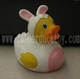 easter bunny rubber duck , bunny rabbit bath duck toy , easter bunny rubber duck bath toy