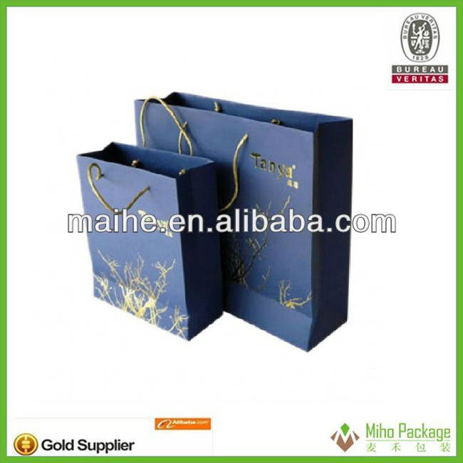 glitter paper bag/twisted handle colored paper bag