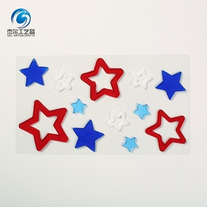 Fancy custom design removable star gel window stickers