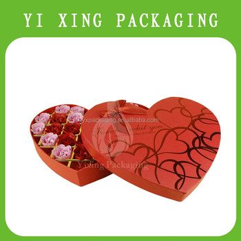 Wholesale Heart Shape Paper Luxury Chocolate Box Gift Box For