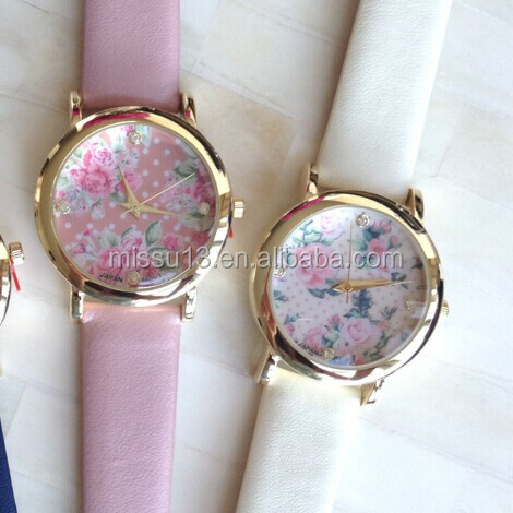 women floral flower wacth