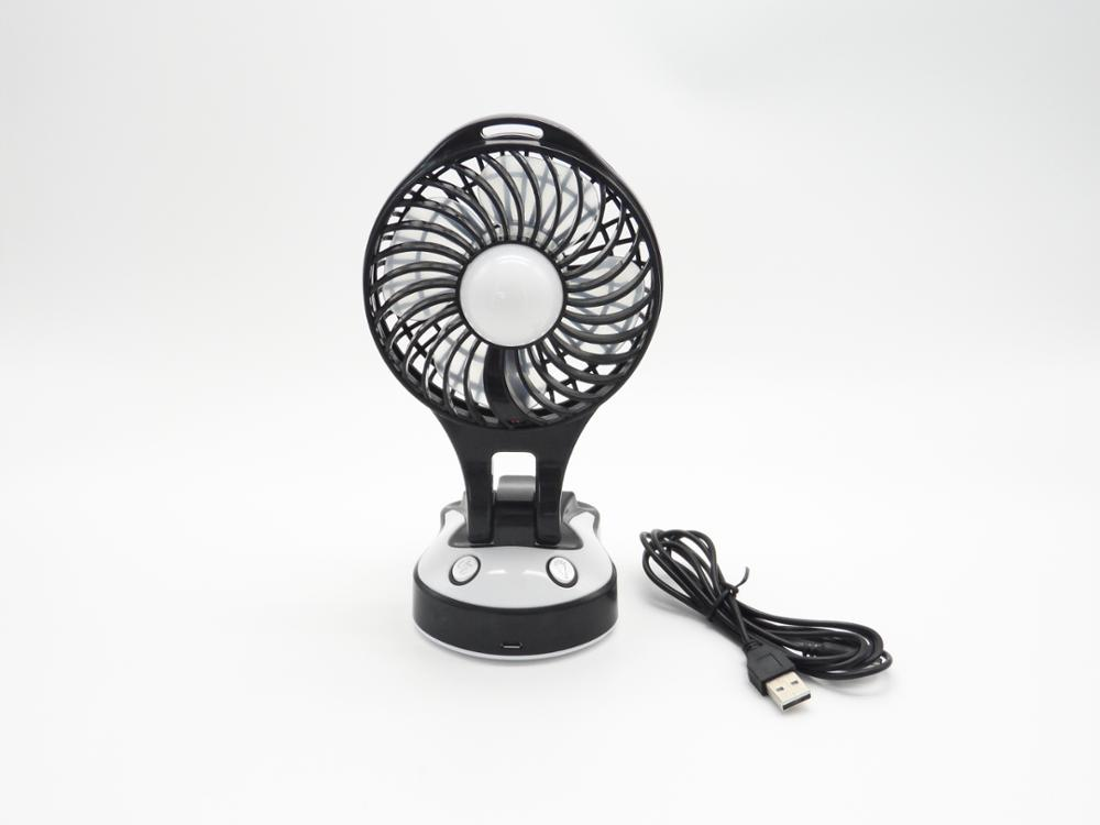 Portable Folding USB Rechargeable Battery Operated Fan with Light