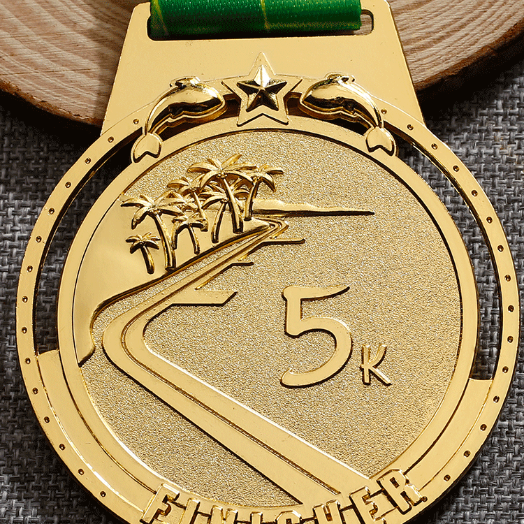 Shuanghua custom 3D running metal sports medal marathon medals with ribbon