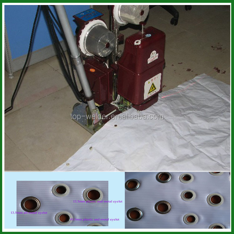 automatic double ring grommet punching machine