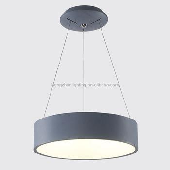 Modern Simple Acrylic Chandelier Light Decorative Commercial Round Ring Aluminum Led Pendant Lighting