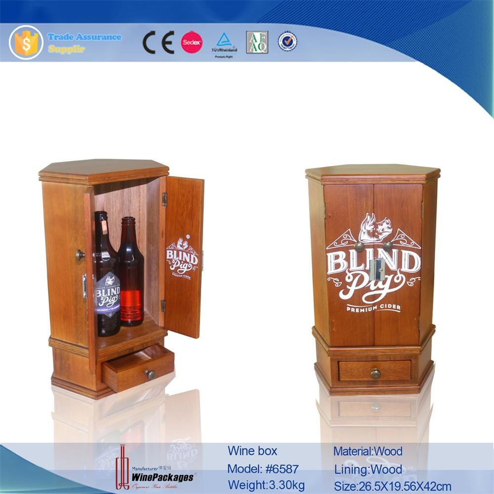 Luxury High Quality Fashionable Wooden Pack Wine Gift Box For Men
