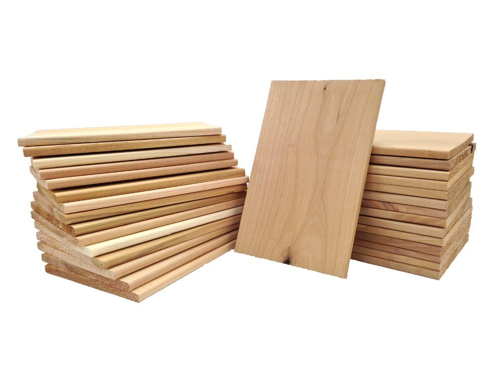 "Wood Fire Grilling Co.. Pacific Northwest Blend Medium Cedar-Alder Grilling Planks - 5""x8"" Planks (30)"