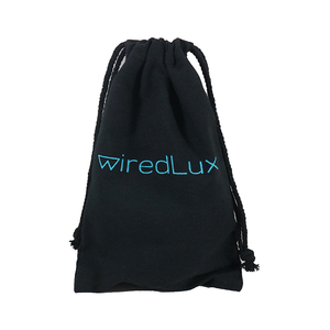 Black cotton drawstring bag resurable pull string gift bag for Jewelry gift shopping use