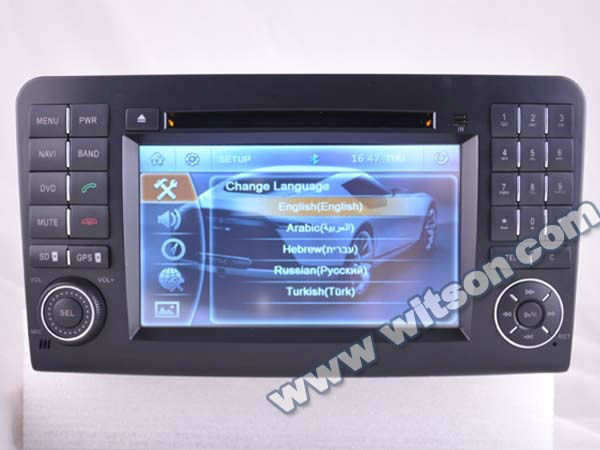 WITSON car double din gps for MERCEDES-BENZ GL450 with ipod bluetooth