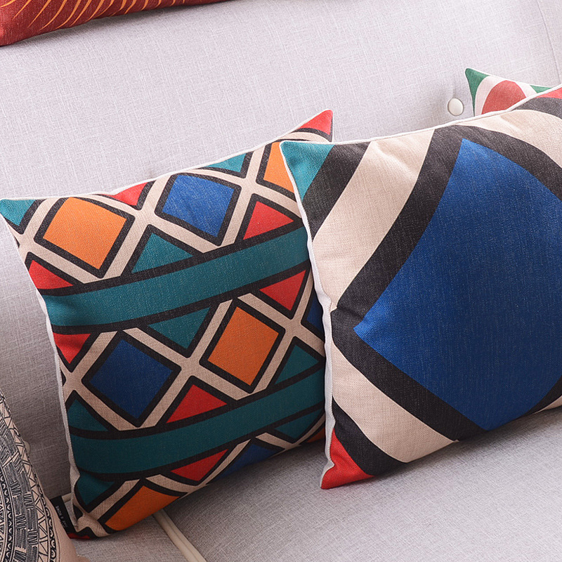 The national style cushion cover Nordic fashion sofa waist cafe sofa cushion