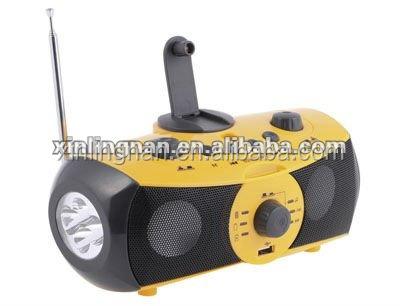 Xln-701 Hot Selling Dynamo Crank Music Speaker Dvd Player Peter ...