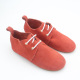 Latest Red Suede Lace Up Rubber Sole Kids Shoes 2017