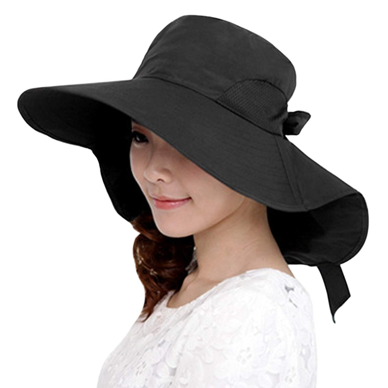 f6870d0a Get Quotations · Clobeau Sun Hats,Womens Beach Cap Sunhats Sun Shade Summer  Sun Caps Travel Hats
