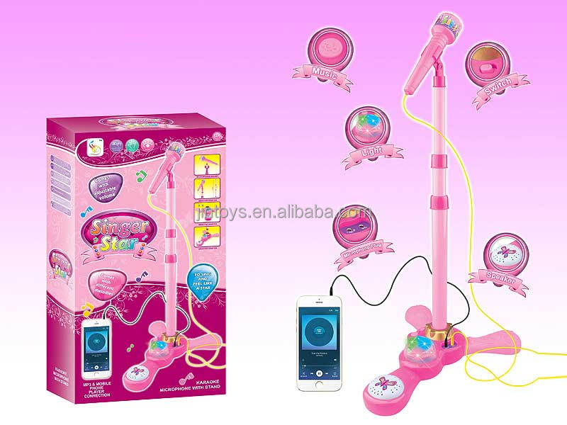 Kids plastic electronic toys music microphone AL021248