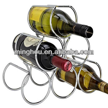 6 bottles triangle circle metal wine rackiron wine shelfmetal wine holder