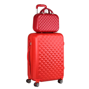 Hard plastic Trolley case/Zipper luggage/hard case