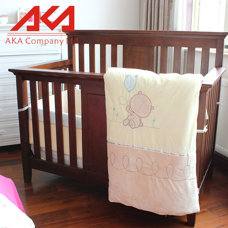 American style baby beds furniture wooden baby cot designer