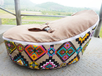 Diamond Geometry Pattern Children Bean Bag Chair With Safety Buckle