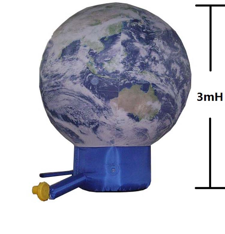 2019 inflatable earth sphere ground balloon
