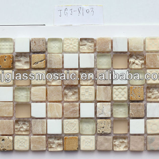 Thickness 8MM 300X300MM Pool Tiles Crystal Glass Mosaic
