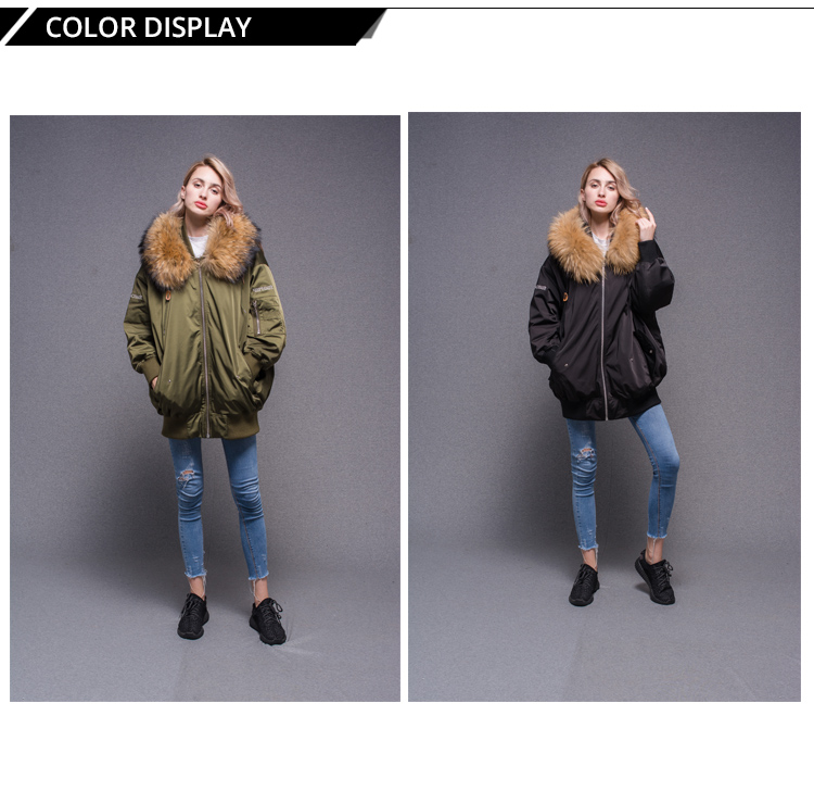 2018 new black baseball flight down women jacket