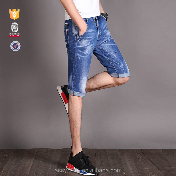 OEM new fashion boys half pants high quality jeans pencil