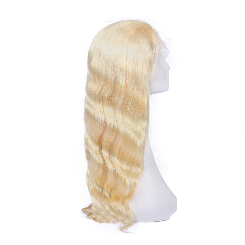 Factory Large Stock Cheap 613# Platinum Blonde Full Lace Wig