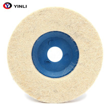 100mm Bulat Grinding Wol Pad Merasa Polishing Wheel Buffer Disc