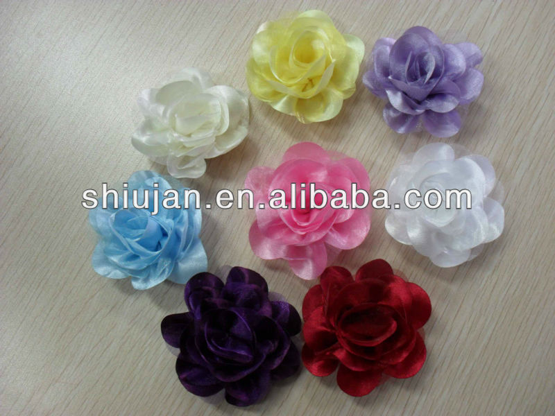 Fabric Flowers/handmade Fabric Flower For Garments/artificial ...
