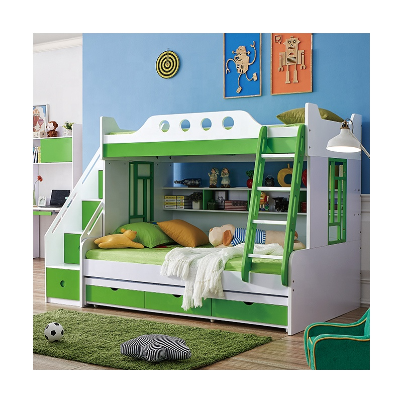Kids Bedroom Furniture Wooden Bunk Bed With Desk And Stairs Cabinet From  Foshan High-end Children Bed - Buy Wooden Bunk Bed With Desk And Stairs ...