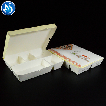 Custom biodegradable printed chinese packaging packing fast food box