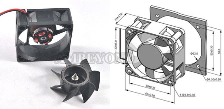 18 Volt Dc Fan : Ambeyond fan v dc cooling mm