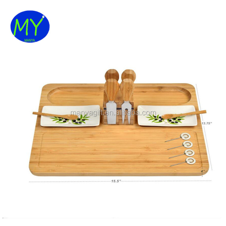 Fast Delivery Bamboo Wood Cheese Board Charcuterie Platter